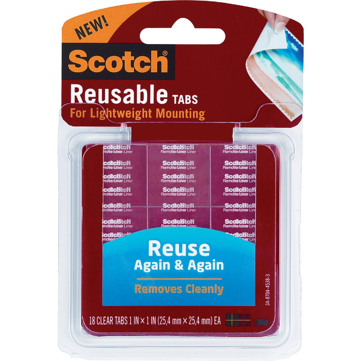 "1"" 18PK REUSE MOUNT TABS - R100 by 3m Co"