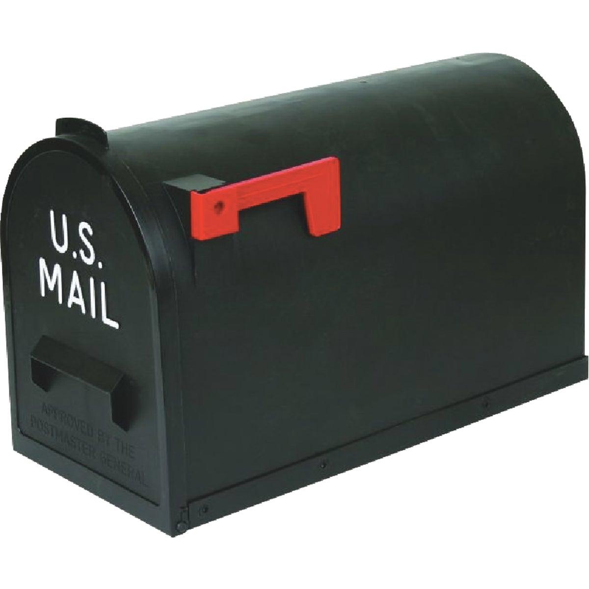#2 Black Poly Mailbox