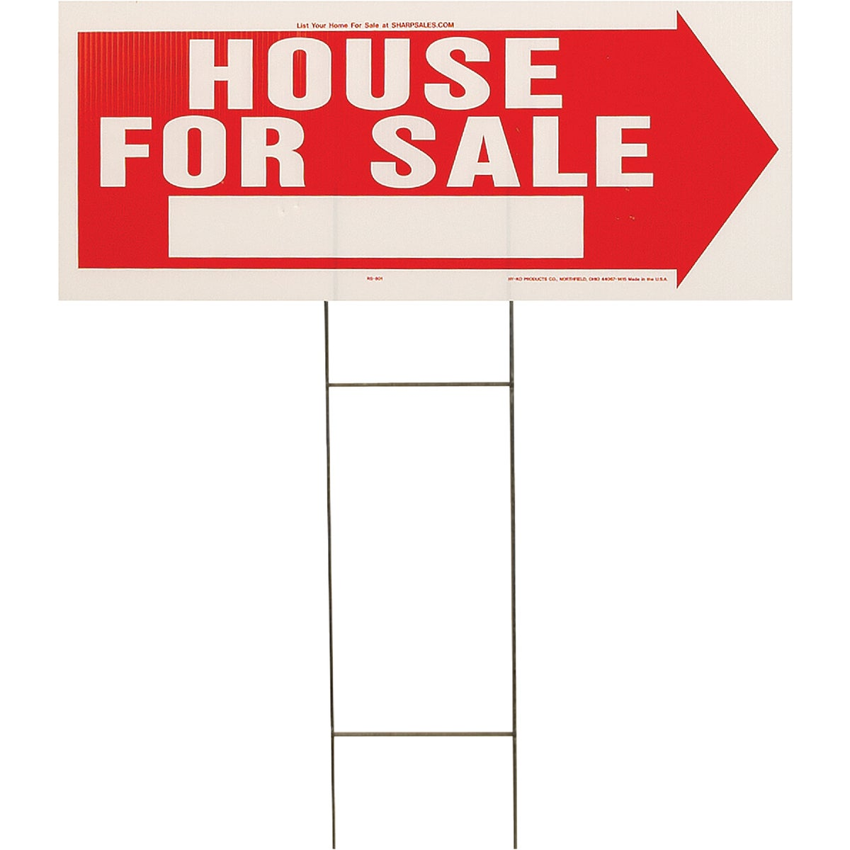 10X24 HOUSE/SALE SIGN - RS-801 by Hy Ko Prods Co