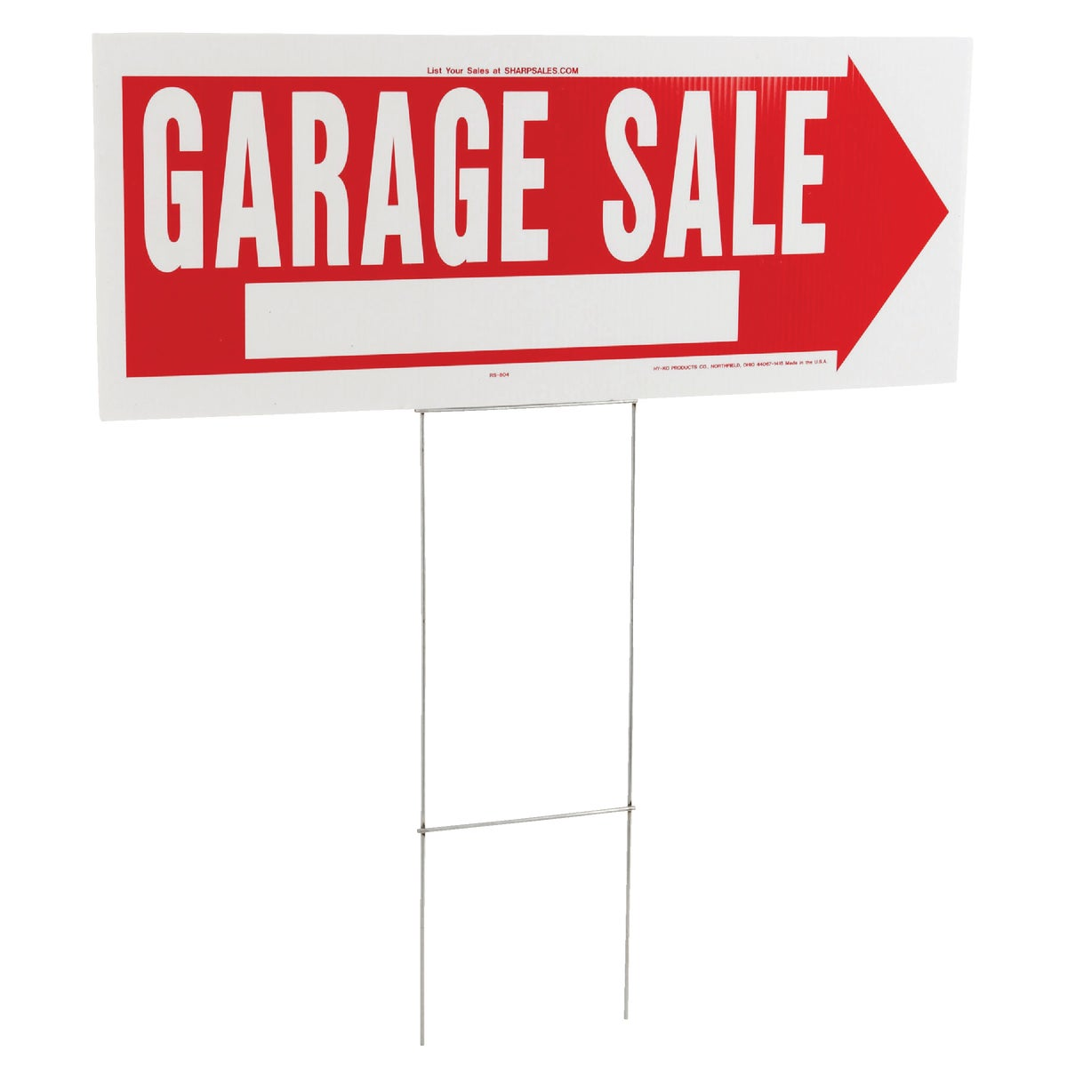 10X24 GARAGE SALE SIGN - RS-804 by Hy Ko Prods Co