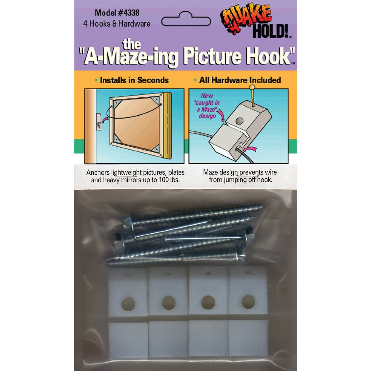 ANTI FALL PICTURE HOOKS - 4338 by Ready America Inc