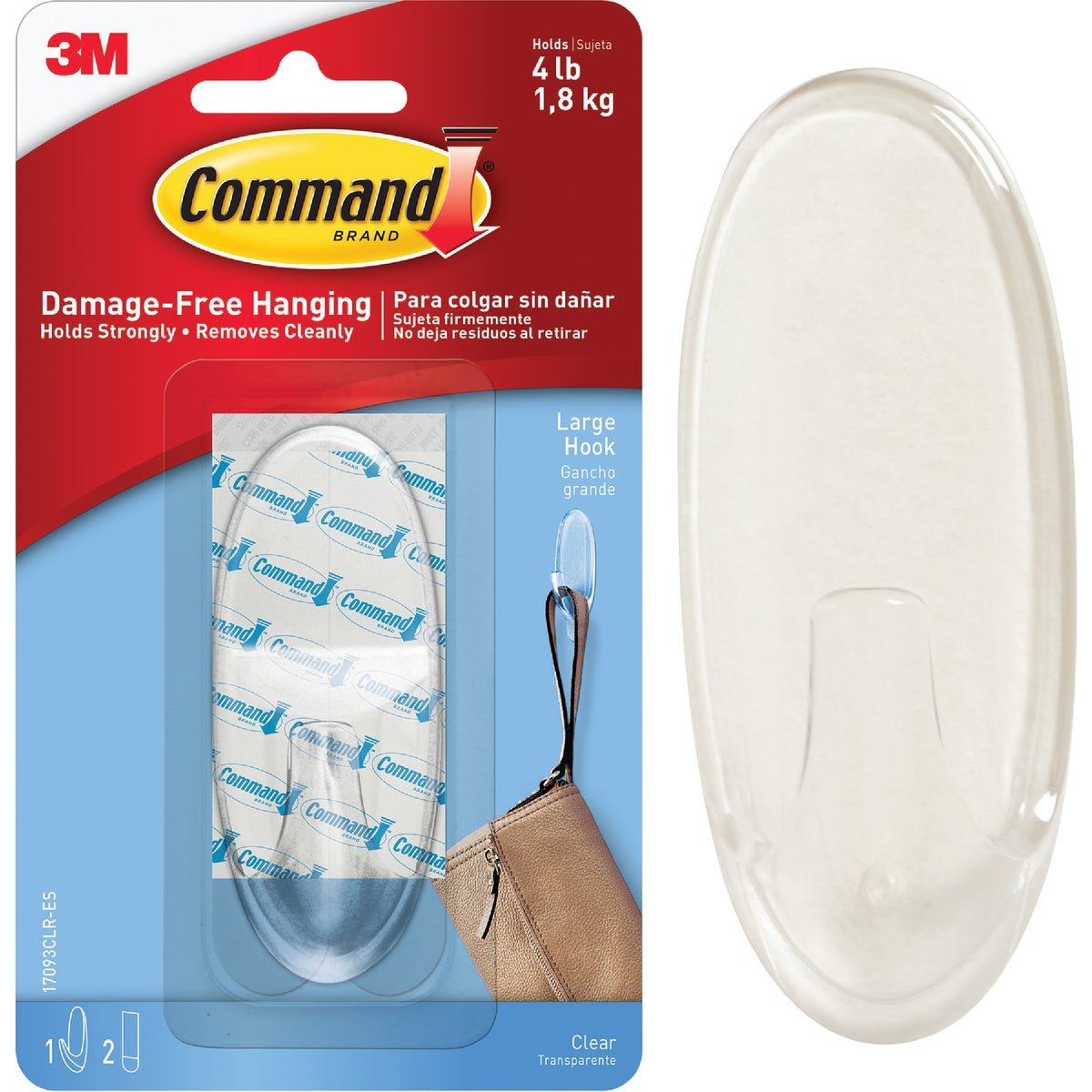CLEAR LARGE HOOKS - 17093CLR by 3m Co