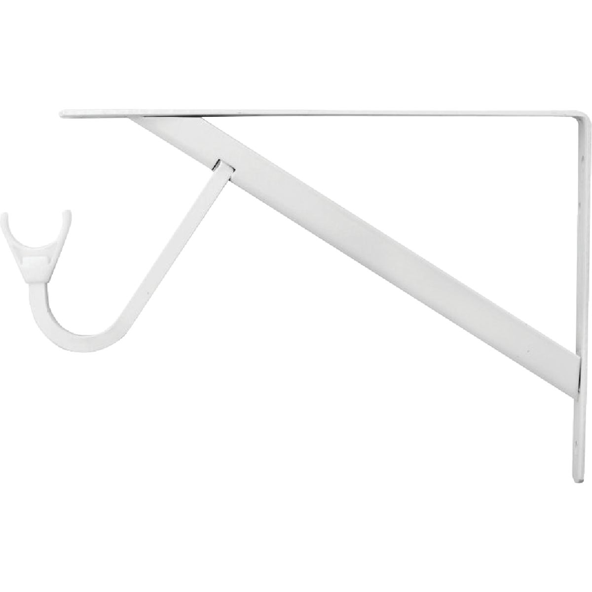 WHT HD SHELF/ROD BRACKET