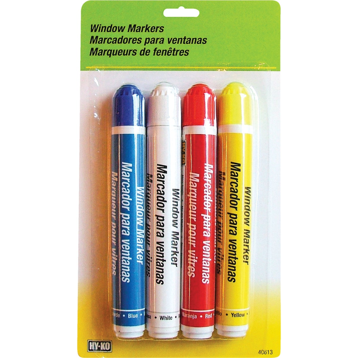 4PK ASST WINDOW MARKERS