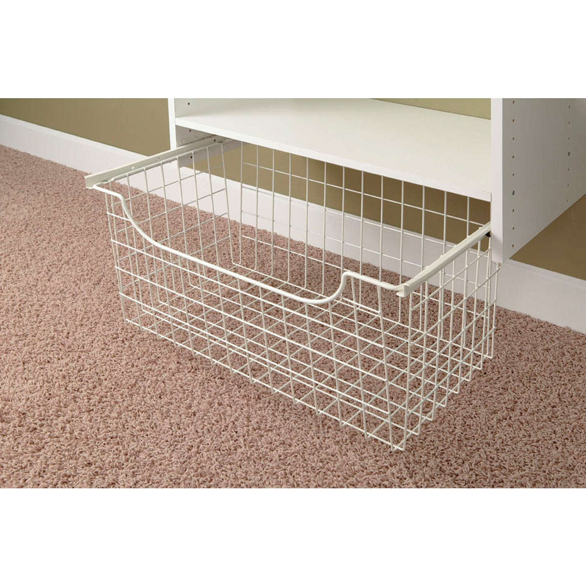 """12"""" WHT WIRE BASKET - 1312 by The Stow Company"""