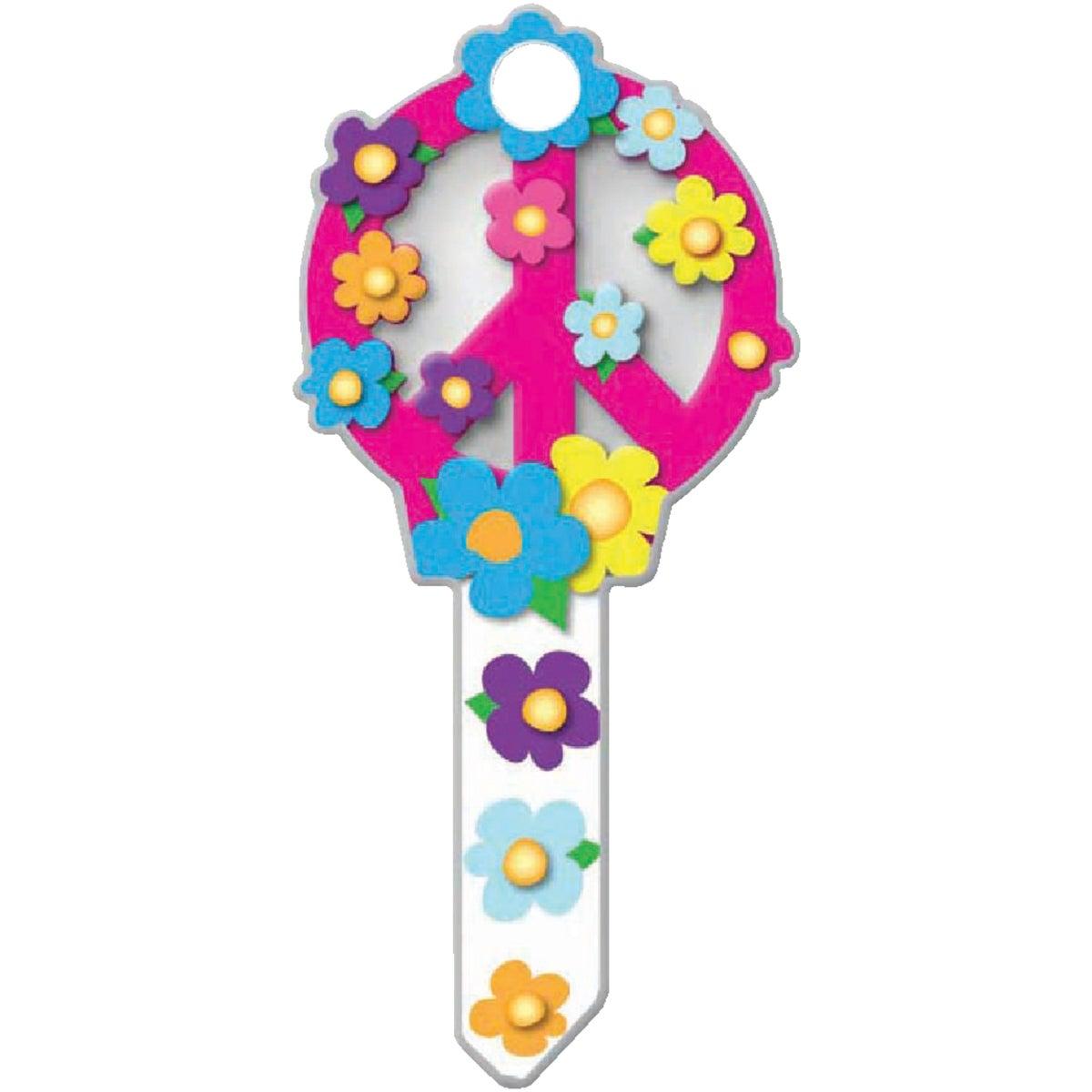 SC1 PEACE SIGN DOOR KEY - B104S by Lucky Line Prod Inc