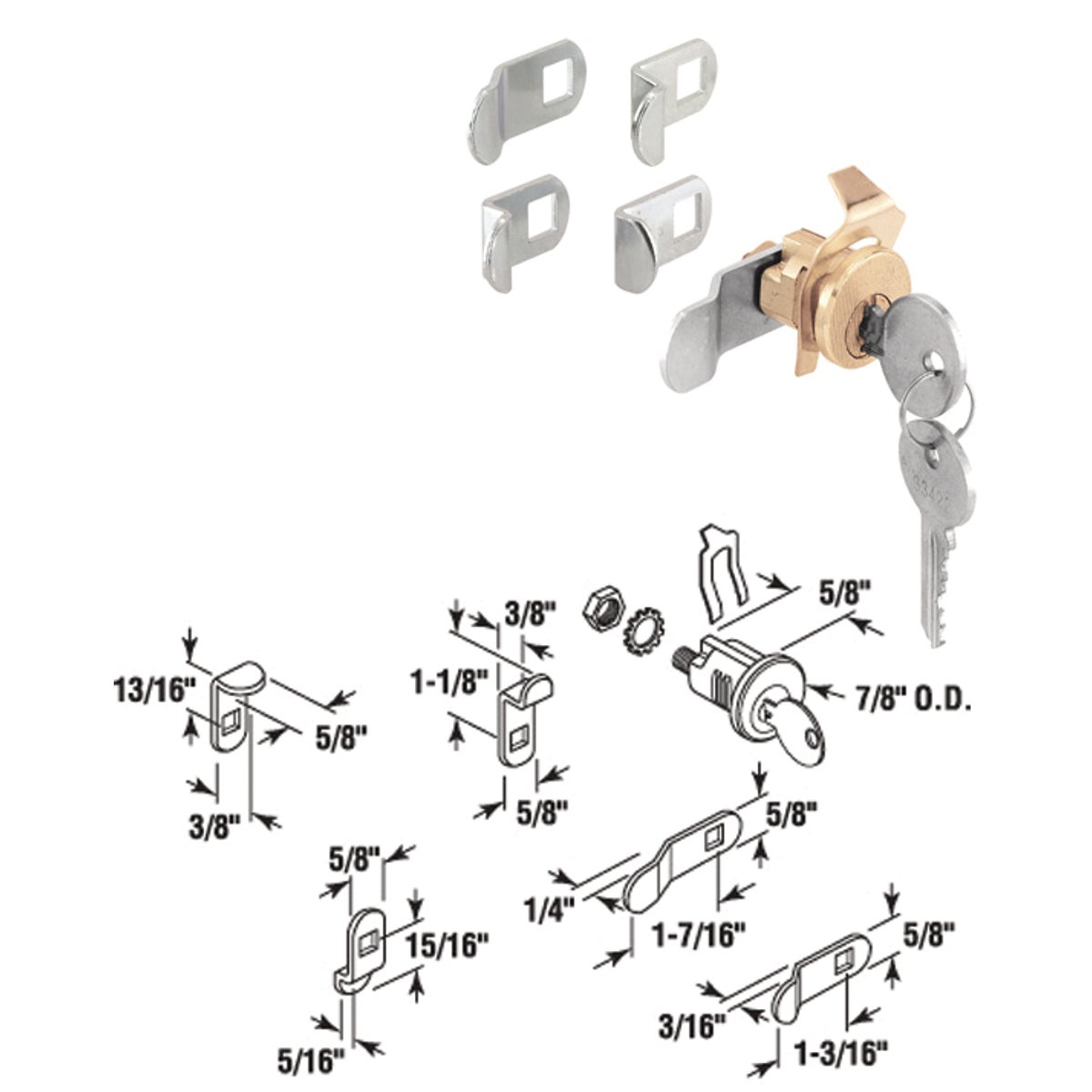 Prime-Line Spring Clip Design Mailbox Lock