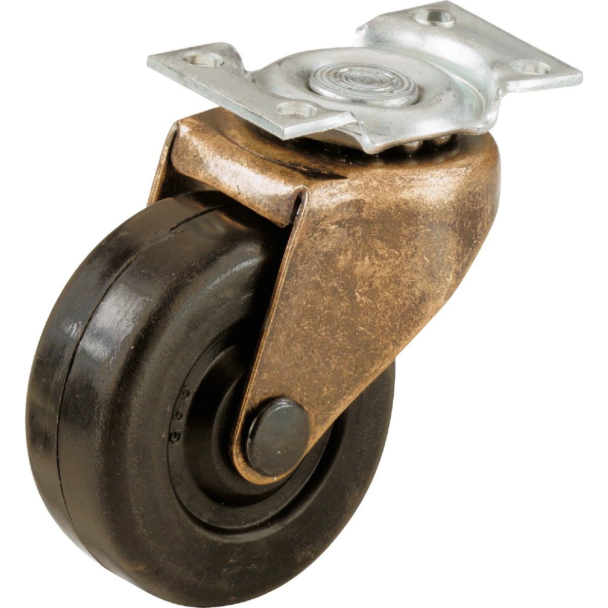 "2"" RUBBER PLATE CASTER - 243612 by Shepherd Hardware"