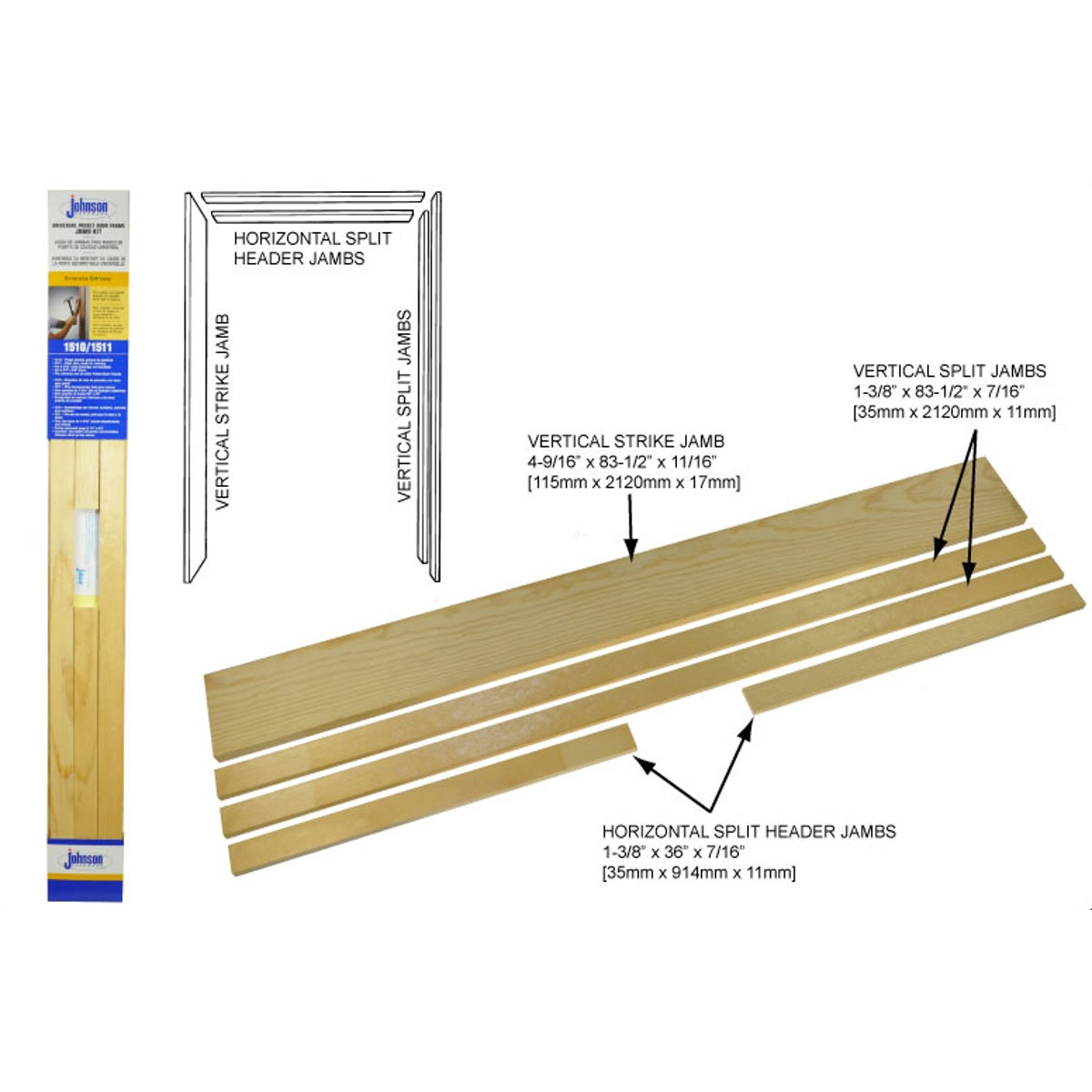 DOOR FRAME JAMB KIT - 15113068 by Johnson Products