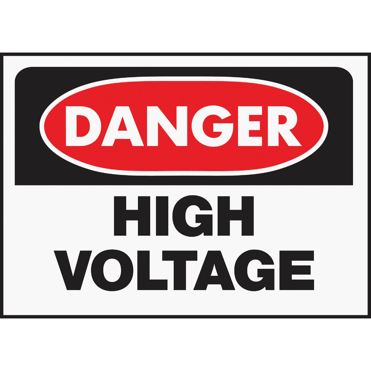 10X14 HIGH VOLTAGE SIGN