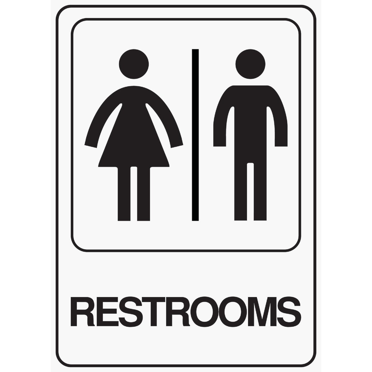 5X7 RESTROOMS SIGN