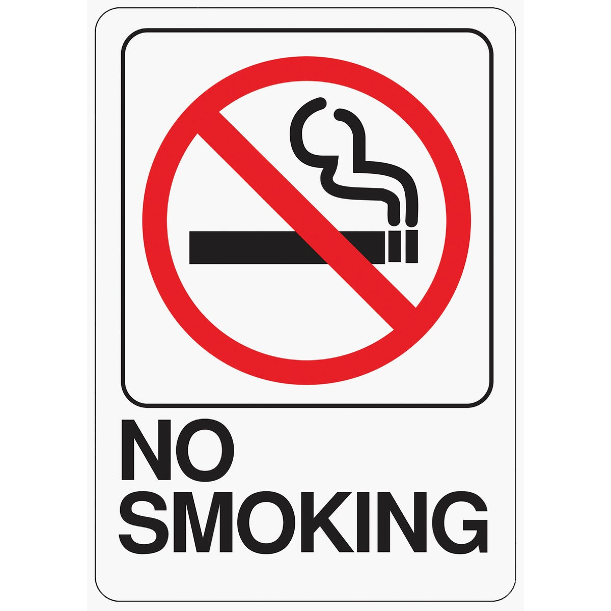 5X7 NO SMOKING SIGN