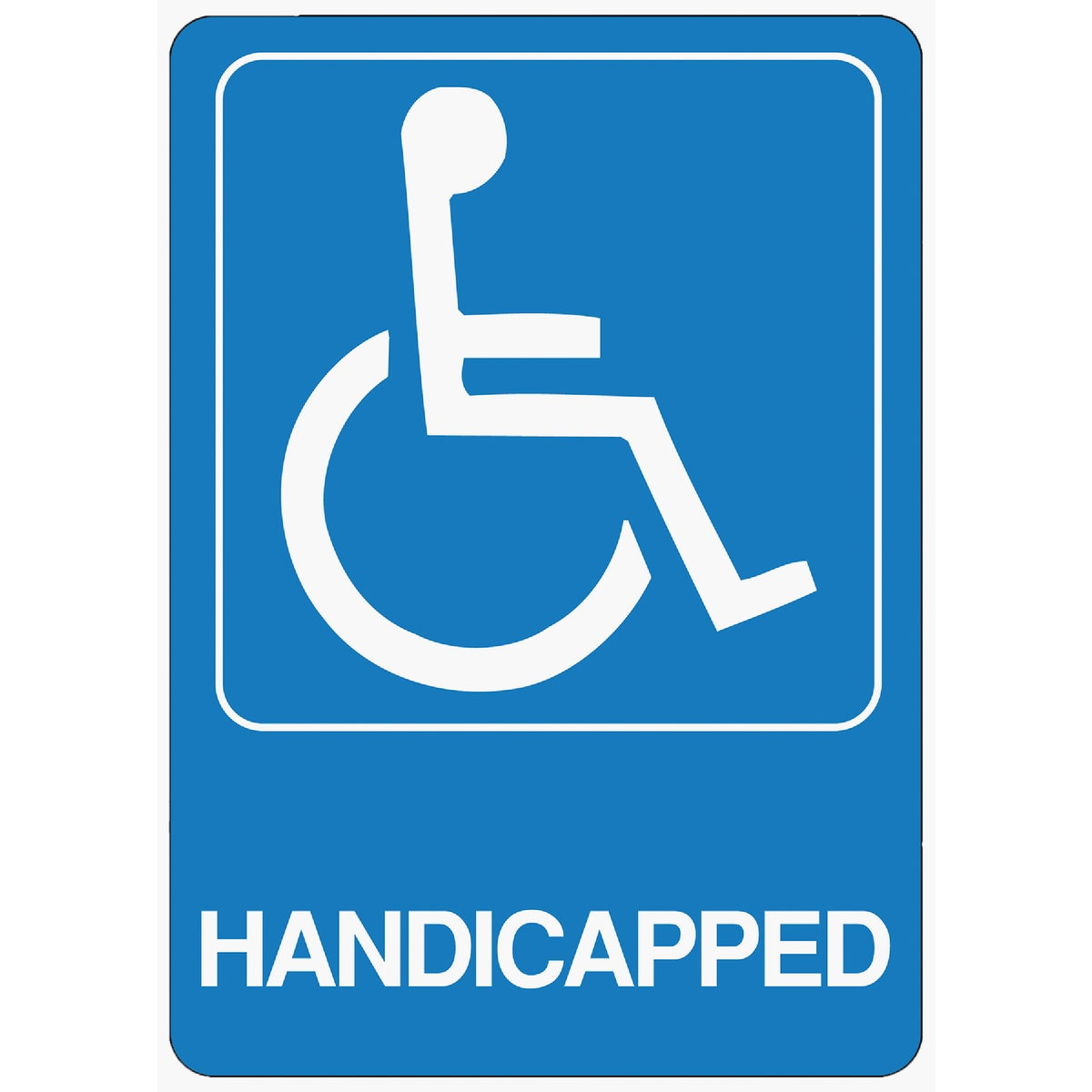 5X7 HANDICAPPED SIGN