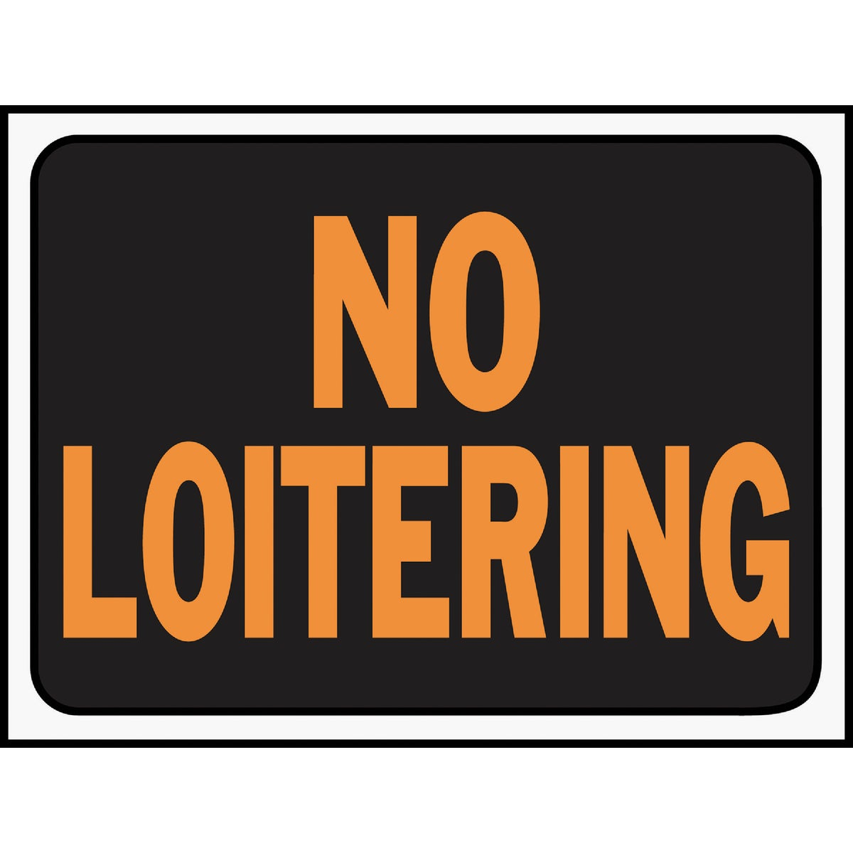 9X12 NO LOITERING SIGN - 3036 by Hy Ko Prods Co