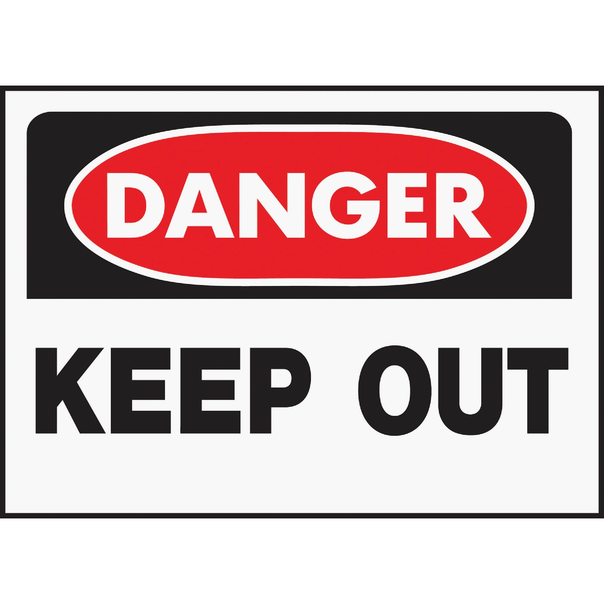 10X14 DANGER K/OUT SIGN - 512 by Hy Ko Prods Co