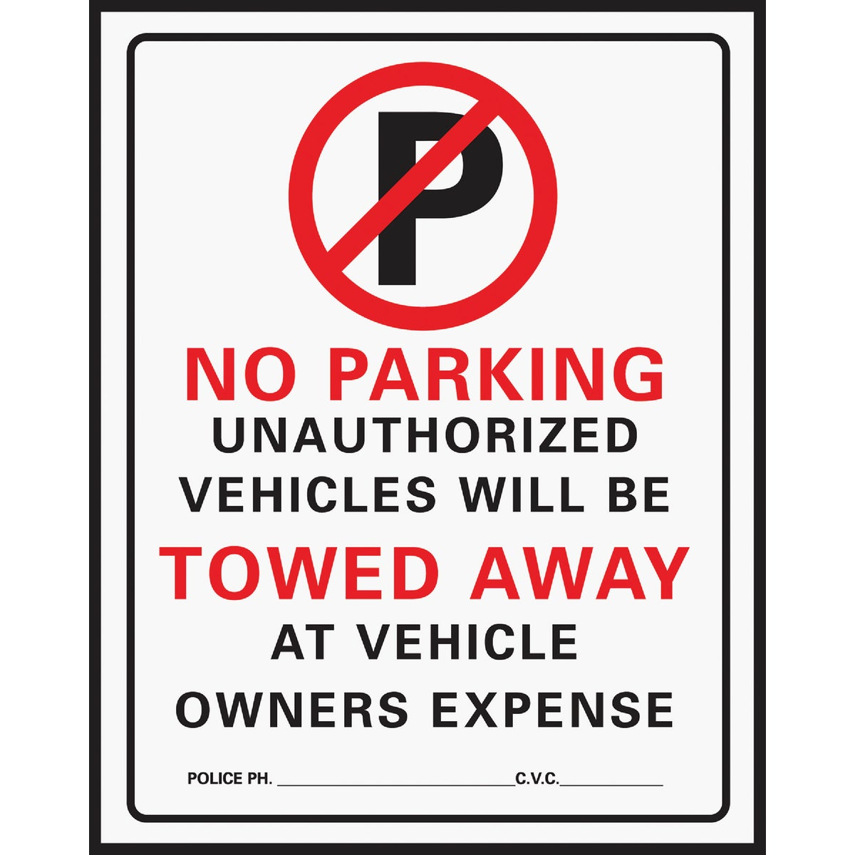 15X19 NO PARKING SIGN - 702 by Hy Ko Prods Co