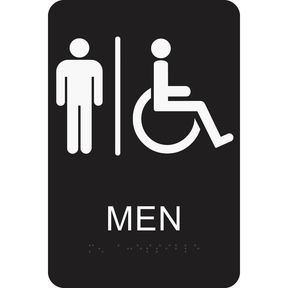 6X9 BRAILLE MEN/HND SIGN - DB-1 by Hy Ko Prods Co