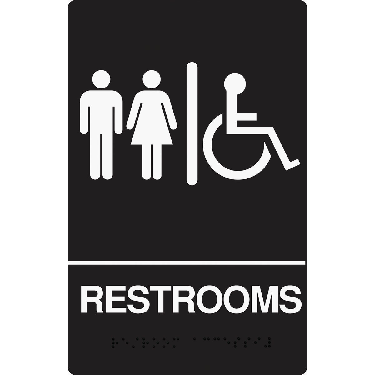 6X9 BRAILLE RESTROM SIGN