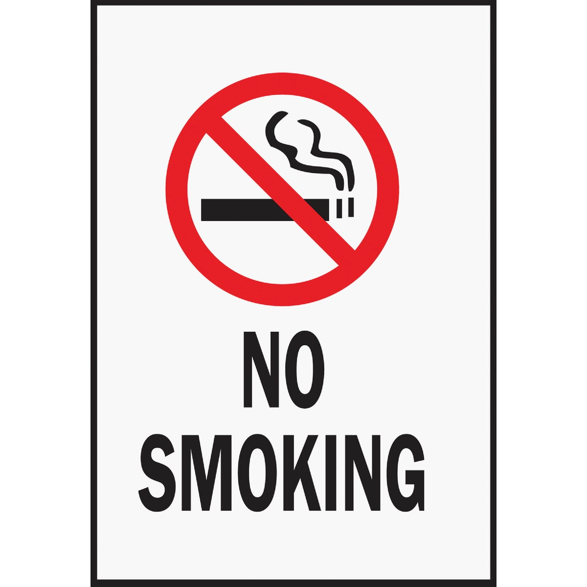 6-3/4X11 NO SMOKING SIGN - HSV-8 by Hy Ko Prods Co