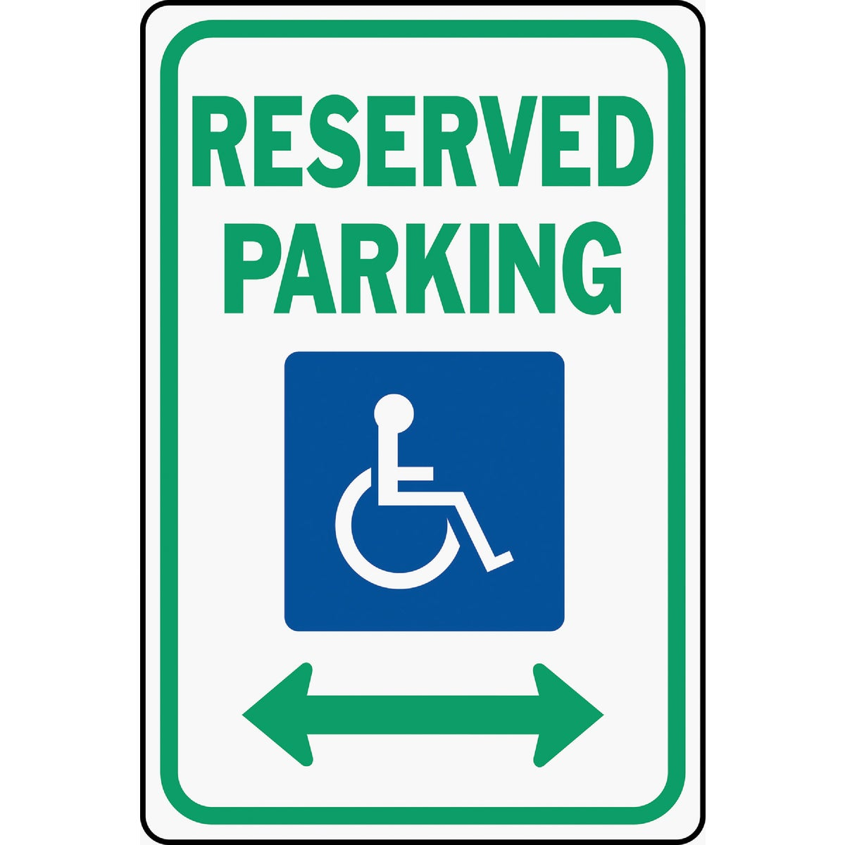 12X18 RESERVED PARK SIGN - HW-32 by Hy Ko Prods Co