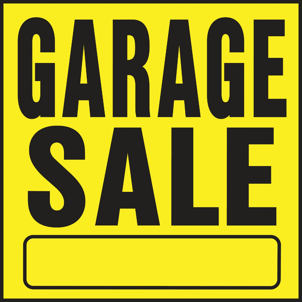 11X11 GARAGE SALE SIGN - YP-3 by Hy Ko Prods Co