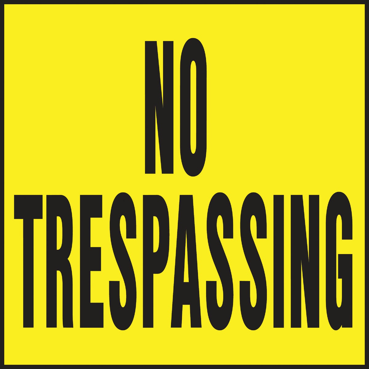 11X11 NO TRESPASSNG SIGN - YP-7 by Hy Ko Prods Co