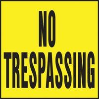 Hy-Ko No Trespassing Sign, YP-7
