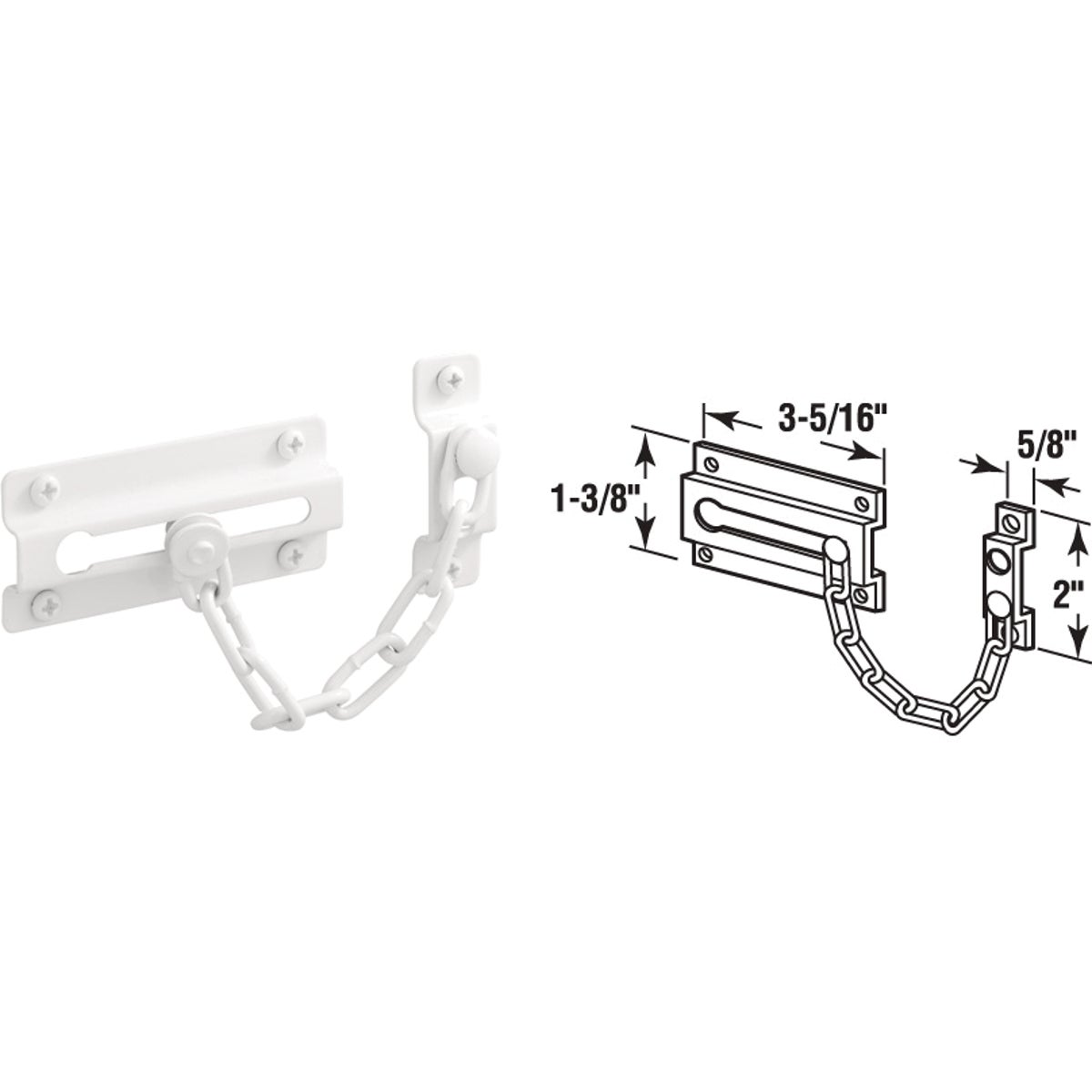 WHT CHAIN DOOR LOCK - U 9852 by Prime Line Products