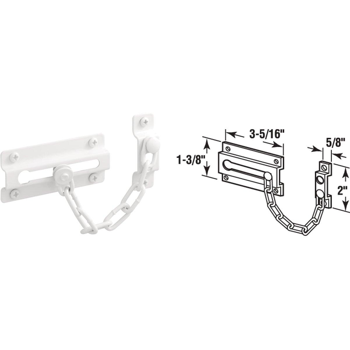 White Chain Door Lock