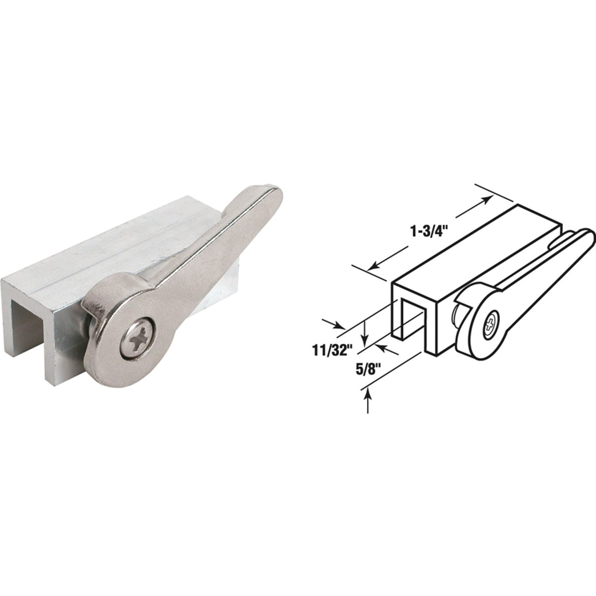 ALUM LEVER WINDOW LOCK - U 9824 by Prime Line Products