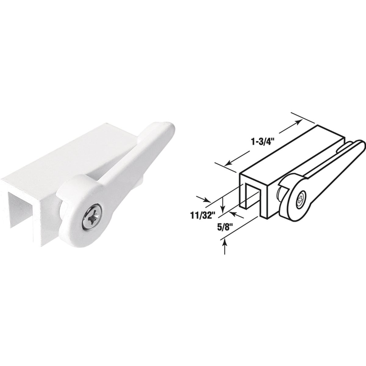 WHT LEVER WINDOW LOCK - U 9825 by Prime Line Products