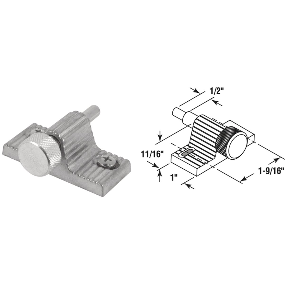 ALUM DOOR SCREW LOCK - U 9848 by Prime Line Products