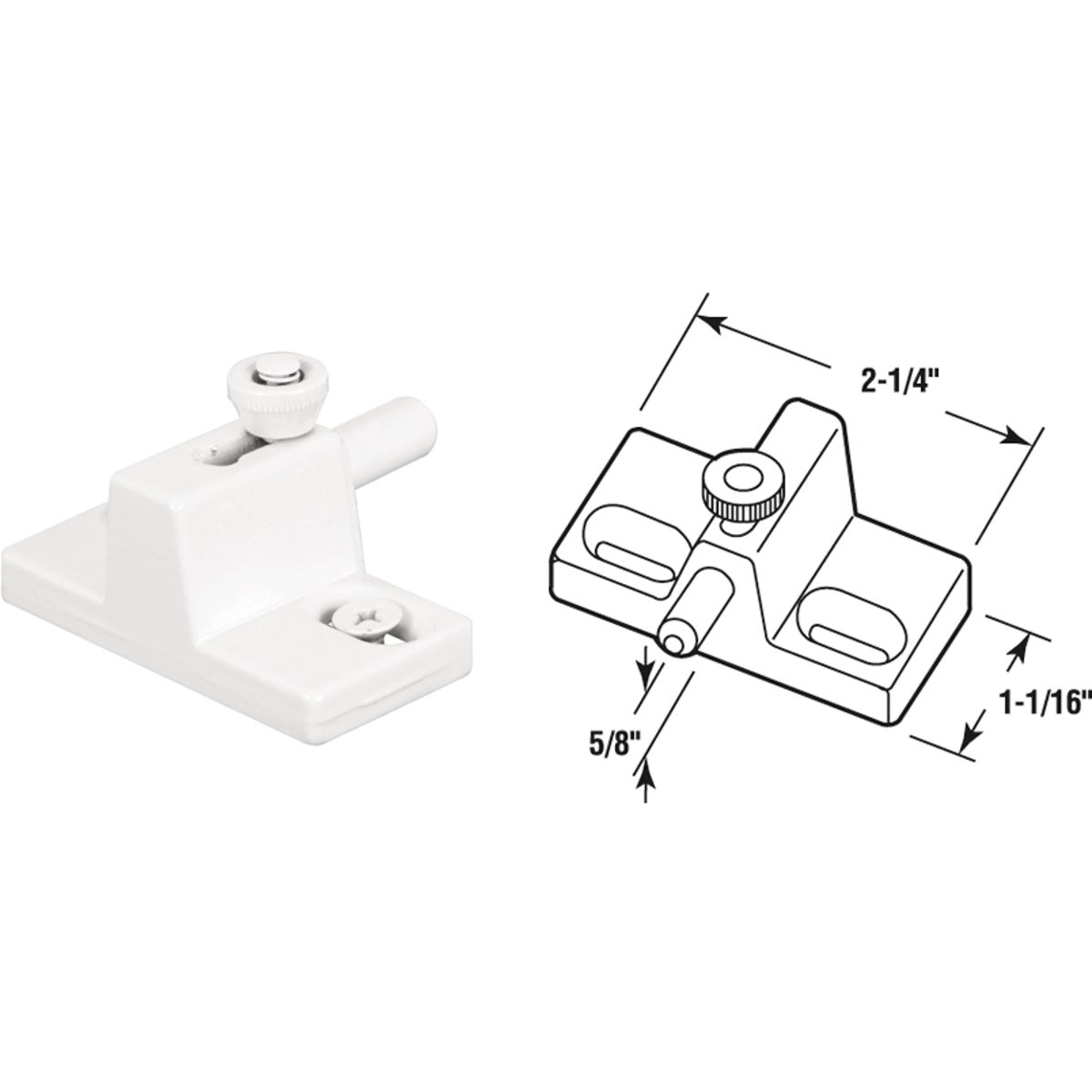 "3/4""WHT DOOR/WINDOW LOCK - U 9867 by Prime Line Products"