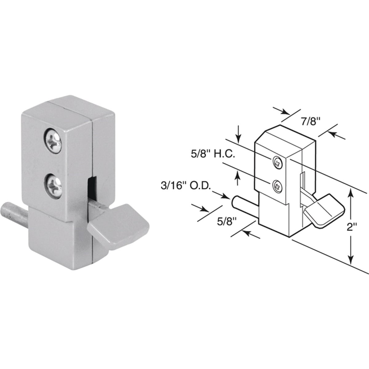 ALUM SLIDING DOOR LOCK - U 9877 by Prime Line Products