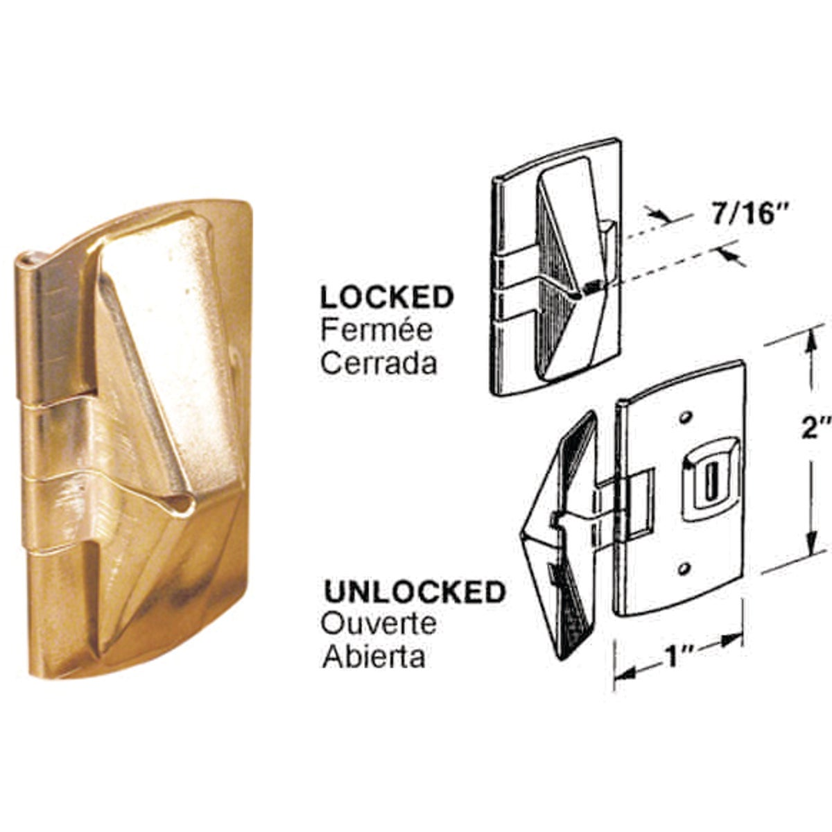 2PK WOOD WINDOW LOCK