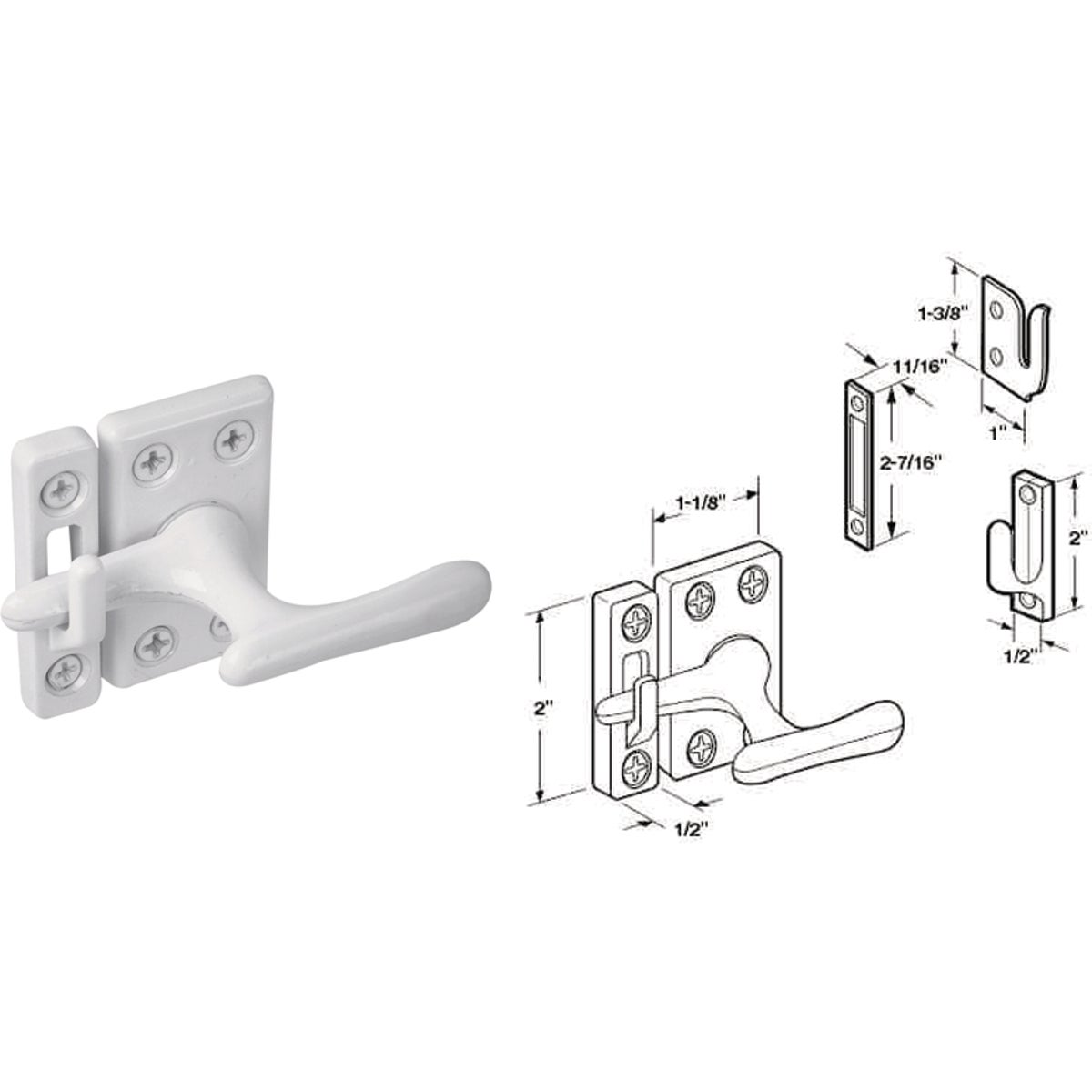 WHT CASEMENT FASTENER - U 9936 by Prime Line Products