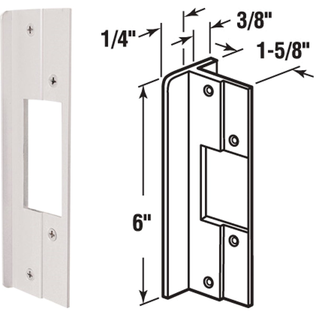 "6"" ALUM LATCH GUARD - U 9481 by Prime Line Products"