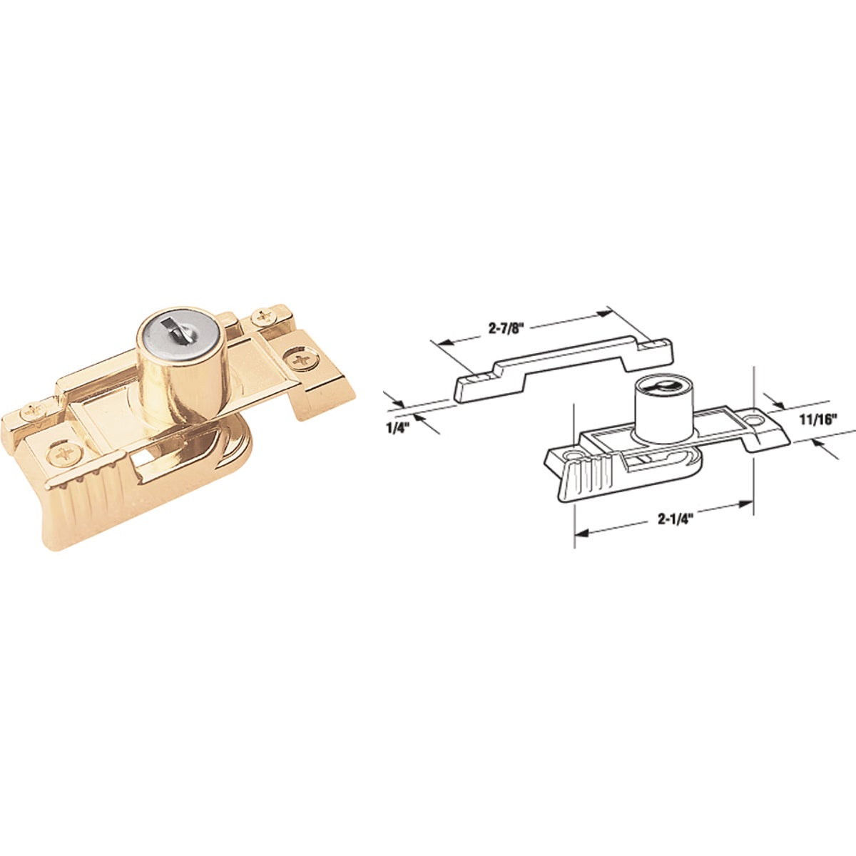 BRS KEYED SASH LOCK - U 9932 by Prime Line Products