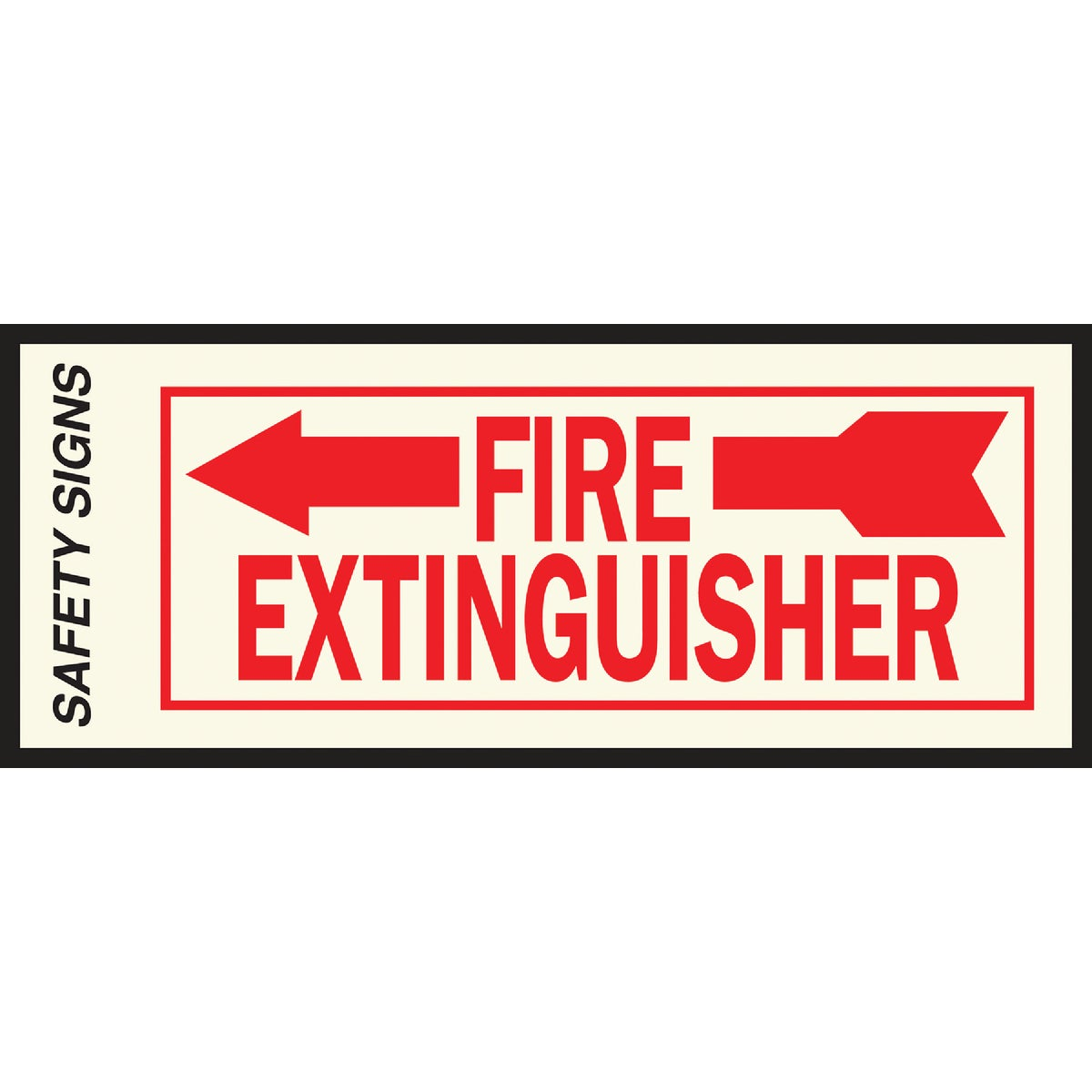 4X10 FIRE EXT LEFT SIGN - FE-2L by Hy Ko Prods Co