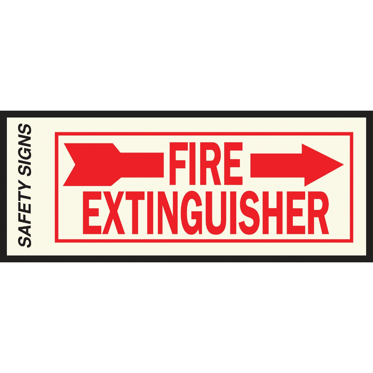 4X10 FIRE EXT RIGHT SIGN - FE-2R by Hy Ko Prods Co