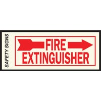 Hy-Ko Fire Extinguisher Sign, FE-2R
