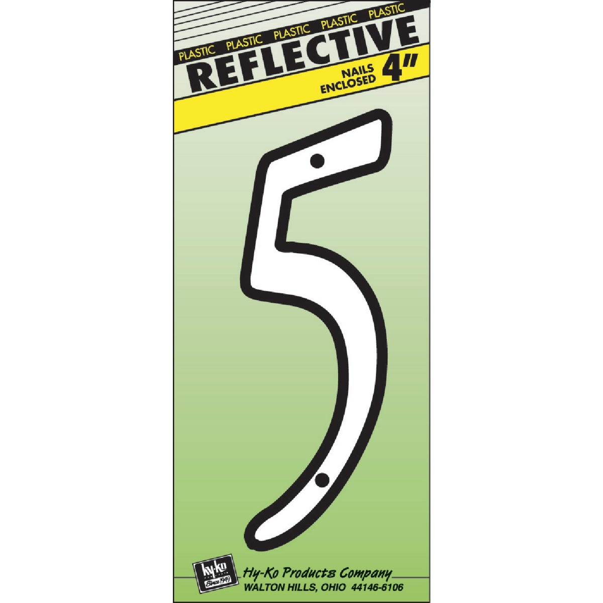 "4"" REFLECT NUMBER 5 - 30605 by Hy Ko Prods Co"