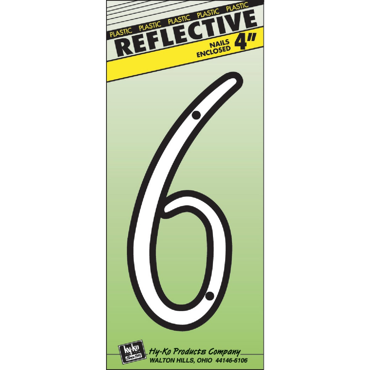 """4"""" REFLECT NUMBER 6"""