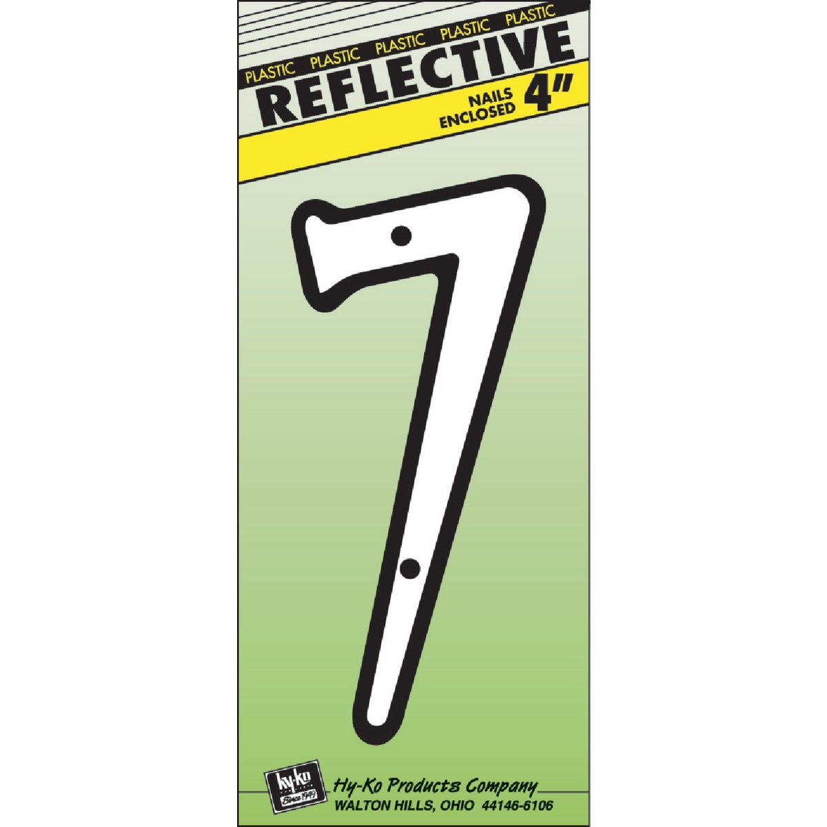"""4"""" REFLECT NUMBER 7"""