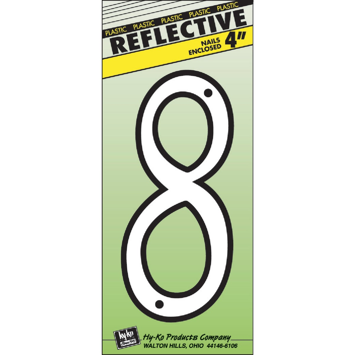 """4"""" REFLECT NUMBER 8"""