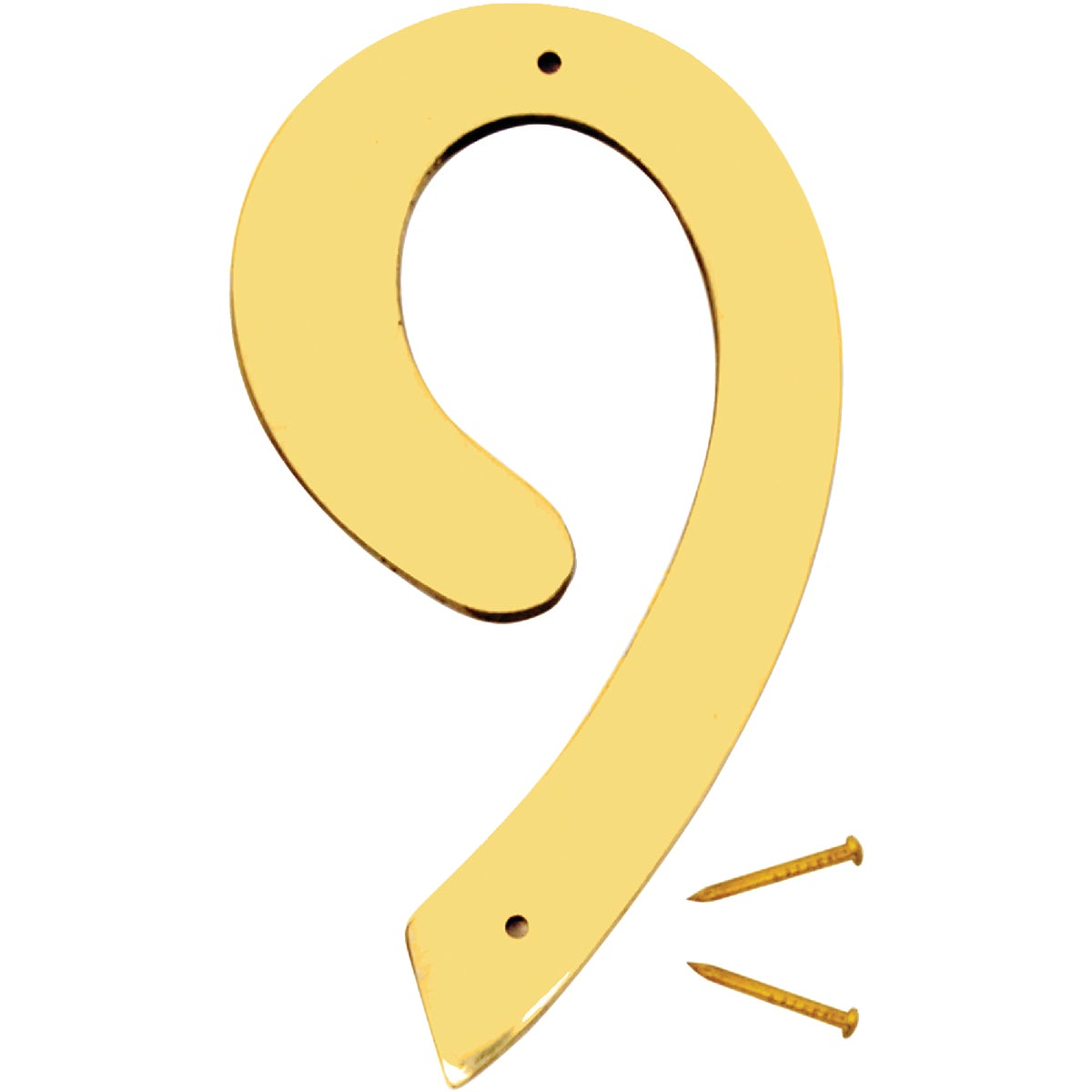 "4"" SOLID BRASS NUMBER 9"
