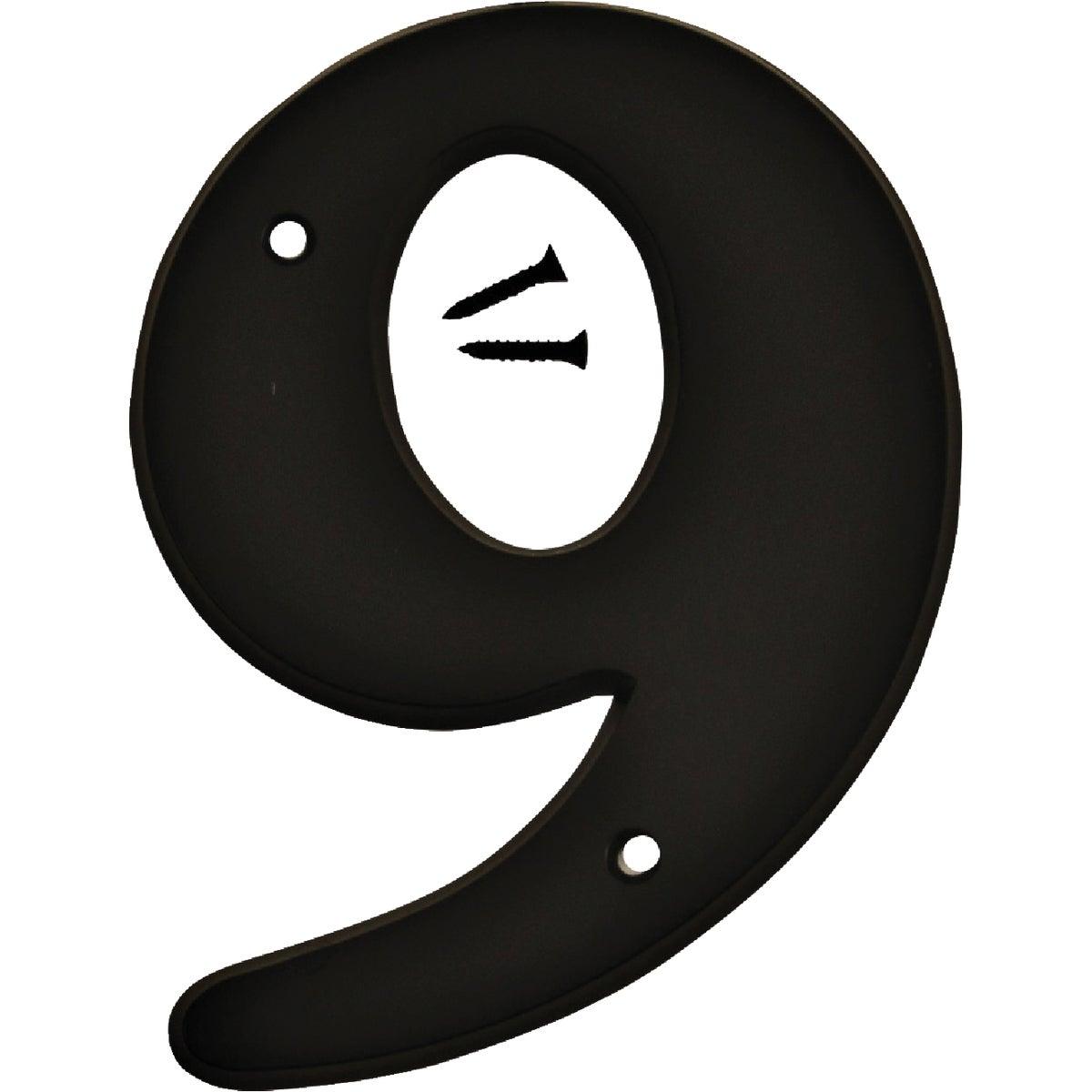 """6"""" BLK PLST NUMBER 9"""