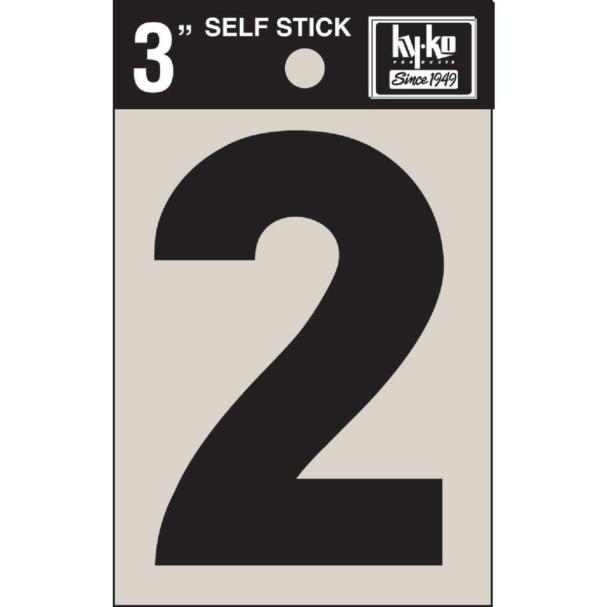 """3"""" BLK VINYL NUMBER 2"""
