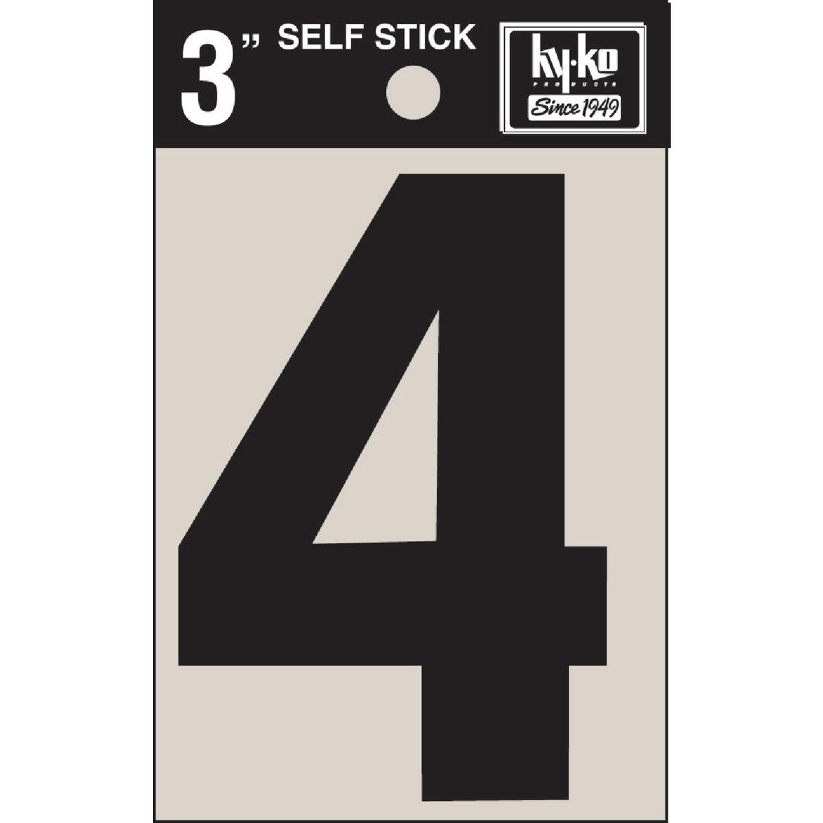 """3"""" BLK VINYL NUMBER 4"""