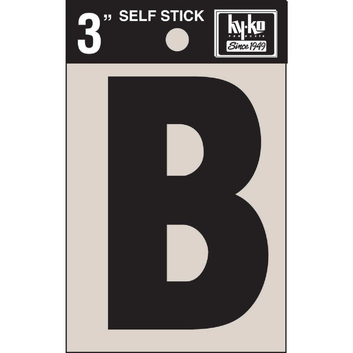 "3"" BLK VINYL LETTER B - 30412 by Hy Ko Prods Co"